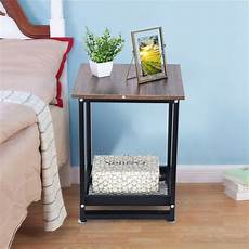 2 tier sofa coffee side table end table square
