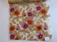 embroidery fabric floral embroidered fabric at rs 320 meter new shiv