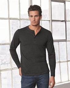 sleeve henley shirts for canvas 3150 blankstyle