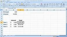 Simple Financial Model Excel Finance Basics 1 Simple Interest In Excel Youtube