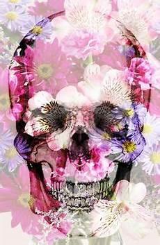 floral skull iphone wallpaper flower skull by lia shaffer via behance for the home
