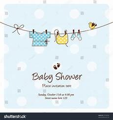 Baby Shower Invite Backgrounds Baby Shower Background Template Vector Cute Unique Stock