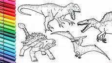 drawing and coloring dinosaurs big collection jurassic