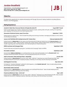 How To Update Your Resume Creative Director Choreographer Stylist Resume