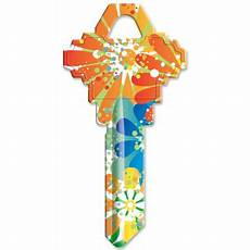 Walmart Key Designs Orange Splash Design Sc1 Key Blank Walmart Com