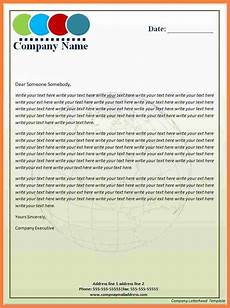 How To Write A Letter Head 5 Company Headed Letter Template Company Letterhead