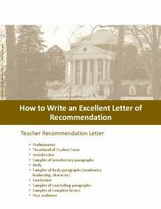 how to write an recommendation letter how to write an excellent college recommendation letter by