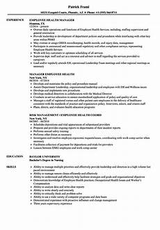 Employee Resume Employee Health Resume Samples Velvet Jobs