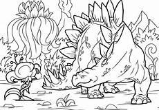 dibujos de estegosaurio para colorear pintar e imprimir