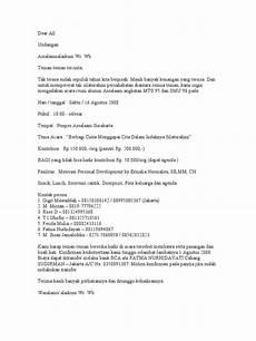 contoh surat undangan reuni