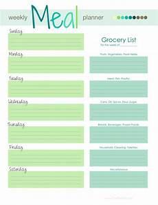 Meal Planning Template Free Weekly Menu Template