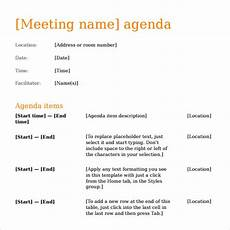 Meeting Agenda Template Doc Sample Agenda Template 27 Download Free Documents In
