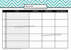 Student Subject Planner Printable Student Planner All About Planners