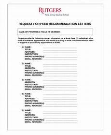 Peer Recommendation Letter Sample Free 38 Samples Of Recommendation Letter Templates In Pdf