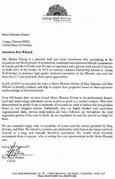 Real Estate Reference Letter Sample 111 Homes Our Largest Investor Recommends Us As Phoenix
