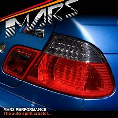 E46 M3 Lights Smoked Red Led Lights For Bmw 3 Series E46 2d
