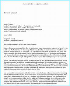 Internship Recommendation Letter Sample Internship Reference Recommendation Letters 8 Best