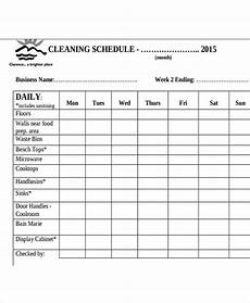 Kitchen Cleaning Rota Template Restaurant Cleaning Schedule Templates 14 Free Word Pdf