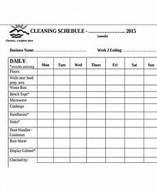 Restaurant Cleaning Schedule Restaurant Cleaning Schedule Templates 14 Free Word Pdf