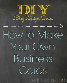Make Your Own Business Gift Cards Erin Go Hooah Diy Blog Design Series How To Make