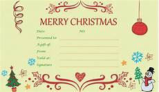 Gift Certificate Ideas For Christmas 40 Awesome Christmas Gift Certificate Templates To End