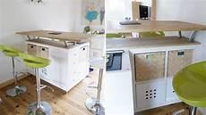 tavolo penisola ikea trasformare uno scaffale ikea in un isola per la cucina