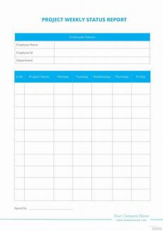 Project Report Template Word Blank Weekly Project Status Report Template In Microsoft