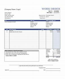 Construction Work Order Template Excel Work Order Template 15 Free Excel Document