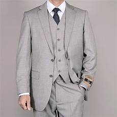 Light Grey 3 Piece Suit Men S Light Gray Wool Silk 3 Piece Vested Suit 14227136