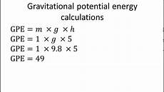 Formula For Energy Gravitational Potential Energy Formula Youtube