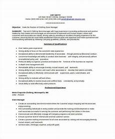 Cv Of Store Manager Store Manager Resume 9 Free Pdf Word Documents