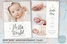 New Baby Announcement Cards An009 Newborn Baby Card Announcement Postcard Templates