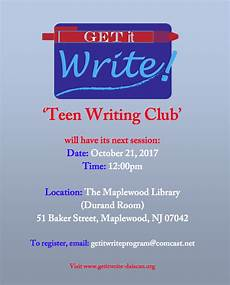 How To Write A Good Flyer Writing Club Session The Village Green