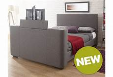 gfw furniture newark fabric tv bedstead 150cm grey