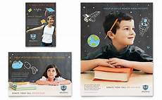 education advertising learning center tutoring graphic templates