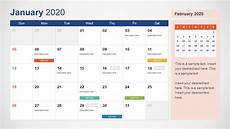 2020 Calendar Free Download 2020 Calendar Powerpoint Template Slidemodel