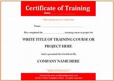 Certificate Of Training Template Free Training Certificate Template 02 Png