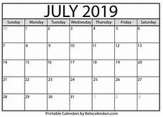 July 2020 Calendar Printable Blank July 2019 Calendar Printable Beta Calendars