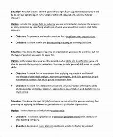 Resume Entry Level Objective Examples Free 9 Sample Objective Statement For Resume Templates In Pdf