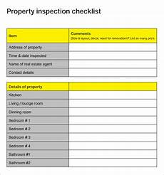 Property Inspection Checklist Free 17 Sample Home Inspection Checklist Templates In