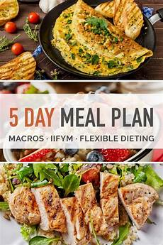 5 day macro dieting meal plan