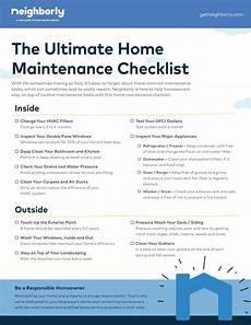 House Maintenance Checklist Home Maintenance Checklist Highlights Window Washing