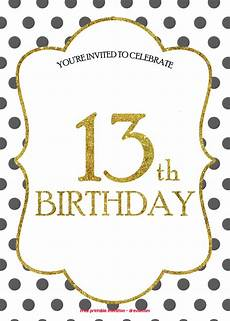Free Birthday Invitation Template Free 13th Birthday Invitations Templates Drevio