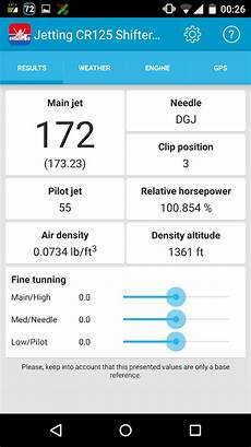 2004 Cr125 Jetting Chart Jetting Cr125 Shifter Kart Android Apps On Google Play