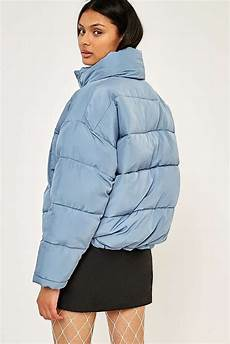 Light Blue Puffer Jacket Urban Outfitters Light Before Dark Blue Pillow Puffer Jacket Casual Style
