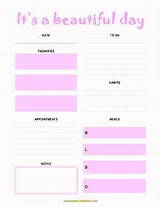 Free Printable Daily Planner Template Daily Planner Templates Word Excel Pdf