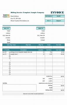 Billing Sample Format Construction Invoice Template