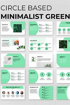 Presentation Powerpoint Template Circle Based Minimalist Green Presentation Powerpoint