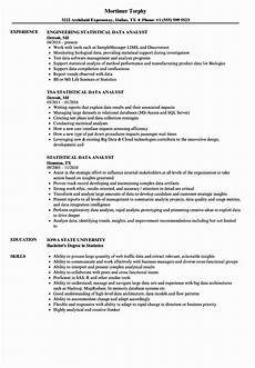 Resume Data Analysis 20 Business Data Analyst Resume
