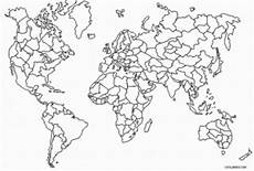 World Map Black And White Printable With Countries Printable World Map Coloring Page For Kids Cool2bkids